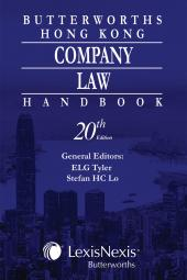 Butterworths Hong Kong Company Law Handbook - 20th Edition cover