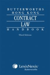 Butterworths Hong Kong Contract Law Handbook - Third Edition cover