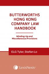 Butterworths Hong Kong Company Law (Winding-Up and Miscellaneous Provisions) Handbook - Second Edition  cover