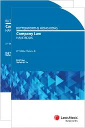 Butterworths Hong Kong Company Law Handbook - 21st Edition cover