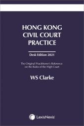 Hong Kong Civil Court Practice - Desk Edition 2021 cover