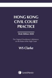Hong Kong Civil Court Practice – Desk Edition 2020 cover