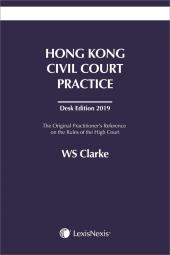 Hong Kong Civil Court Practice - Desk Edition 2019 cover