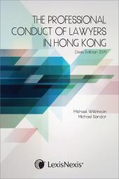 The Professional Conduct of Lawyers in Hong Kong cover